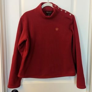 Ariat Red Heavy Pullover Sweatshirt Size Large